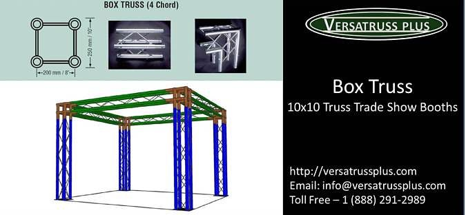 Box Truss 10x10 trade show booth
