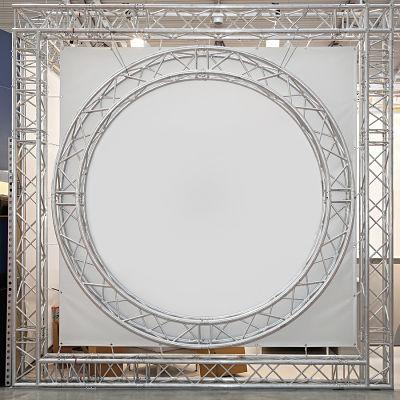 Custom Trade Show Booths Round Exhibit Truss Full Circle