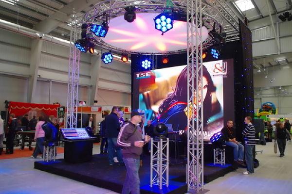 Full Custom Trade Show Booths Custom Lighting Circular Design