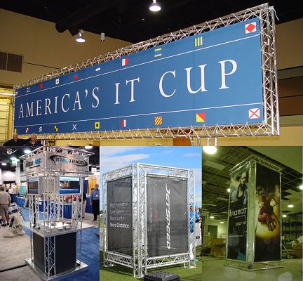 Promotional Marketing Display Truss and Advertising Exhibit Banner Stands