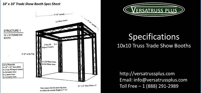 Specifications 10x10 Trade Show Booths