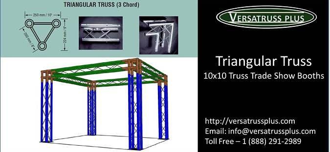 Triangular Truss 10x10 Trade Show Booths
