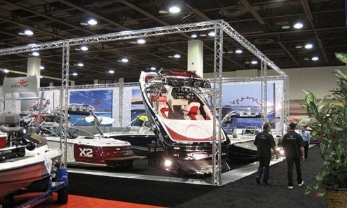 large portable truss trade show displays