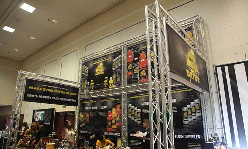 multi level trade show booths