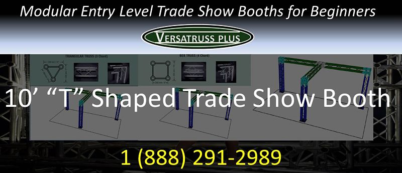 10' T shaped entry level trade show booth for beginners