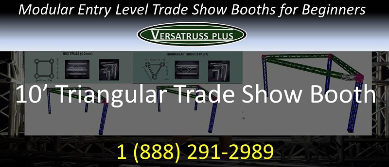 10' triangular entry level trade show booth for beginners