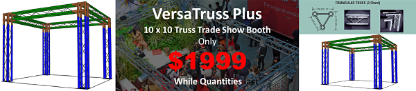 10 x 10 trade show booth display truss sale