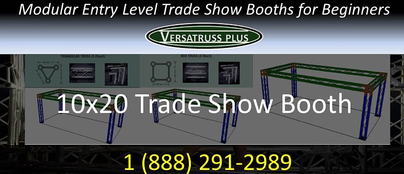 10x20 entry level trade show booth for beginners