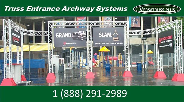 Commercial Truss Entrance Archway System