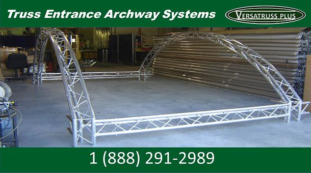 Curved Truss Archway Entrance Top
