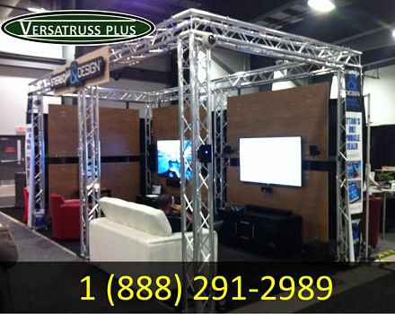 Trade Show Booths Fabricated From Aluminum Truss