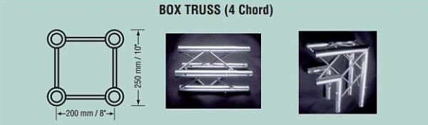Square Box Display Truss Exhibit Truss Weight Specifications