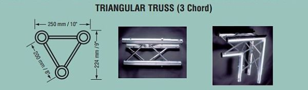 Triangle Display Truss Exhibit Truss Weight Specifications