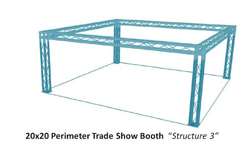 "20x20 Perimeter Trade Show Booth  ""Structure 3"""