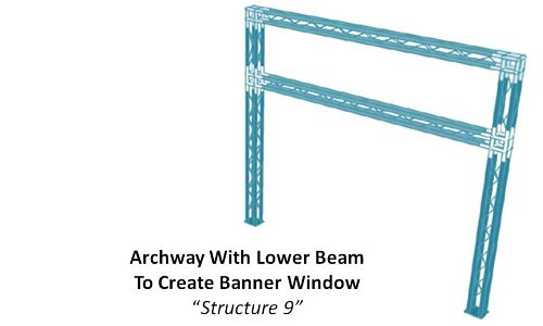 "Archway With Lower Beam To Create Banner Window ""Structure 9"""