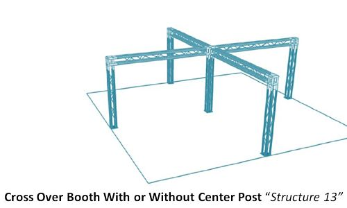 Cross Over Trade Show Display Booth With or Without Center Post Structure 13