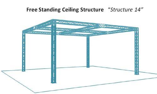 Free Standing Ceiling Display Structure   Structure 14
