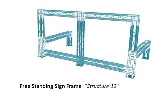 Free Standing Sign Frame Truss Structure 12