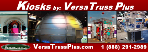 VersaTruss Plus offers a wide range of Kiosk design opportunities