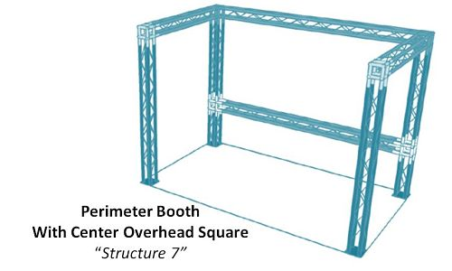 "Perimeter Booth With Center Overhead Square ""Structure 7"""
