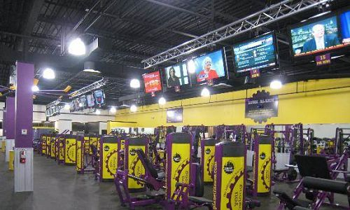 Planet Fitness Overhead Display Truss