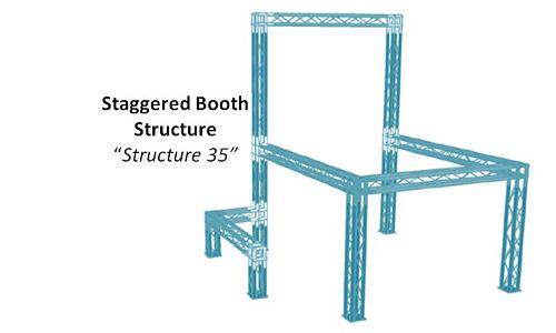 "Staggered Booth Structure ""Structure 35"""