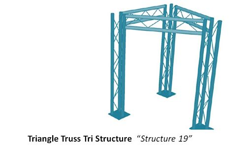 "Triangle Truss Tri Structure  ""Structure 19"""