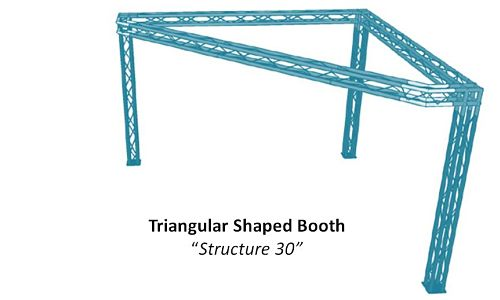 Triangular Shaped Booth Structure 30