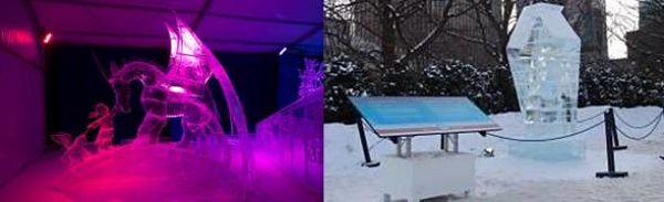 Ice Sculpture Sign Stands by VersaTruss Plus