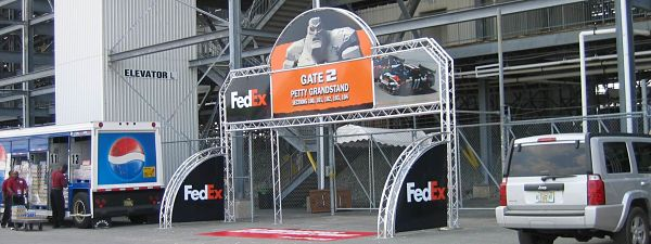 Fedex NASCAR World Cup Truss Entrance Way