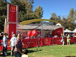 VersaTruss Plus McDonalds exhibit truss booth
